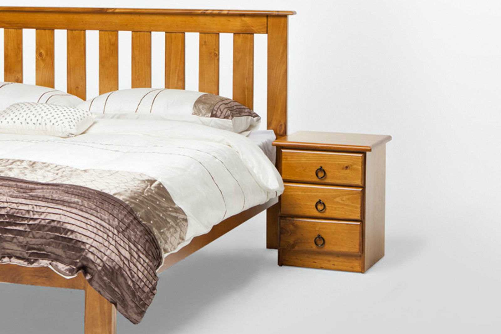 Platform Bed Bed Frame Midcentury Modern Bed Walnut Bed