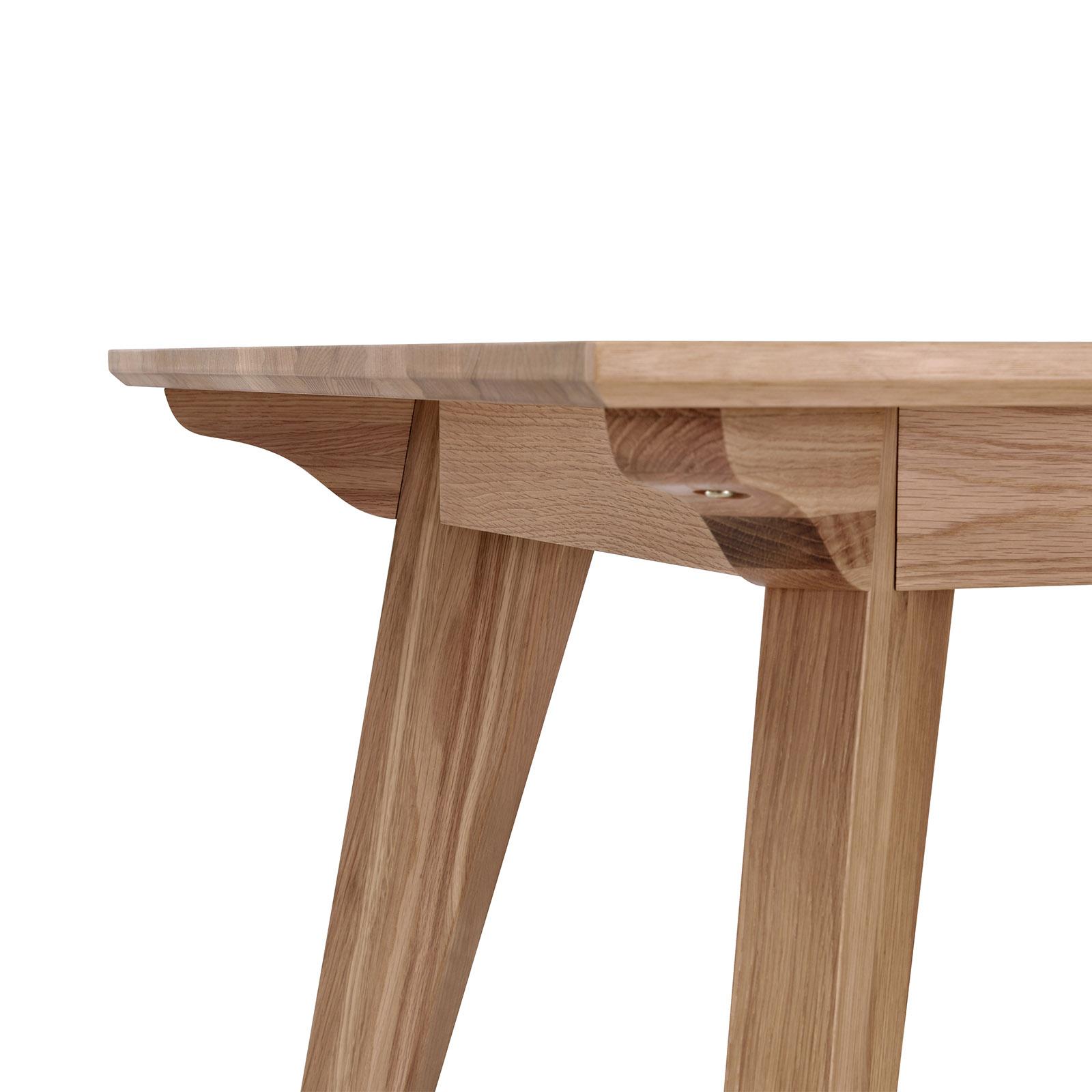 Alison White Oak Natural Veneer Dining Table Modern