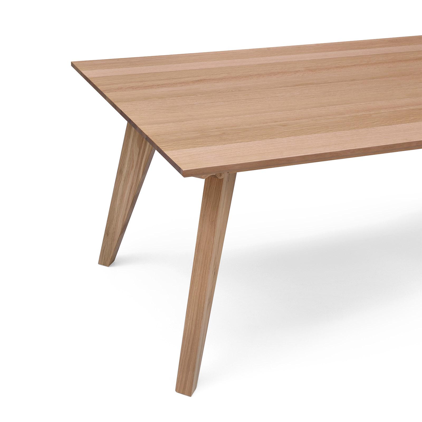Alison white oak natural veneer m dining table modern
