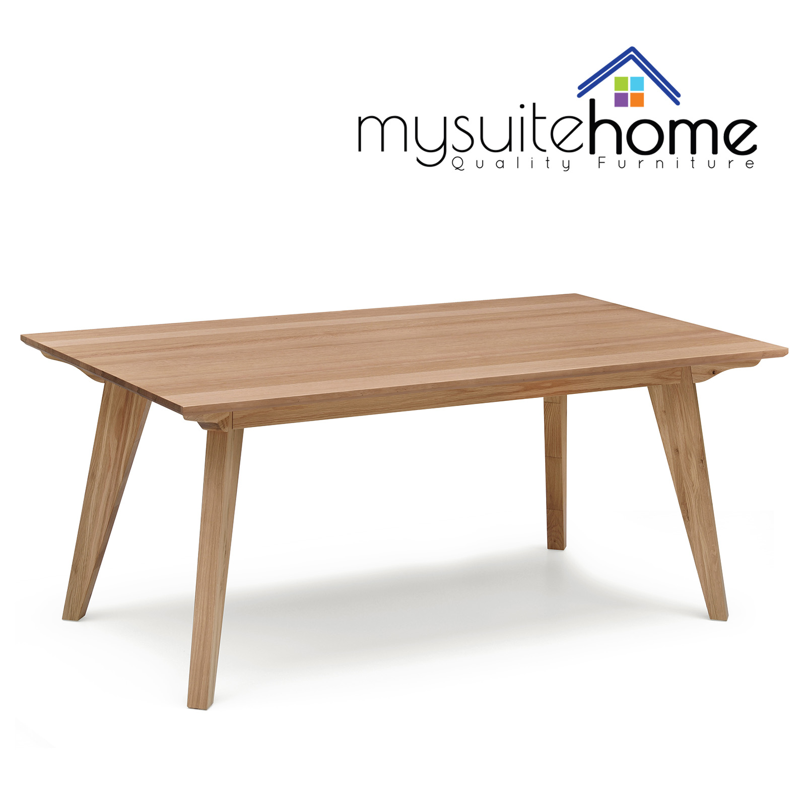 Alison white oak natural veneer dining table modern design ebay - Oak veneer dining table ...