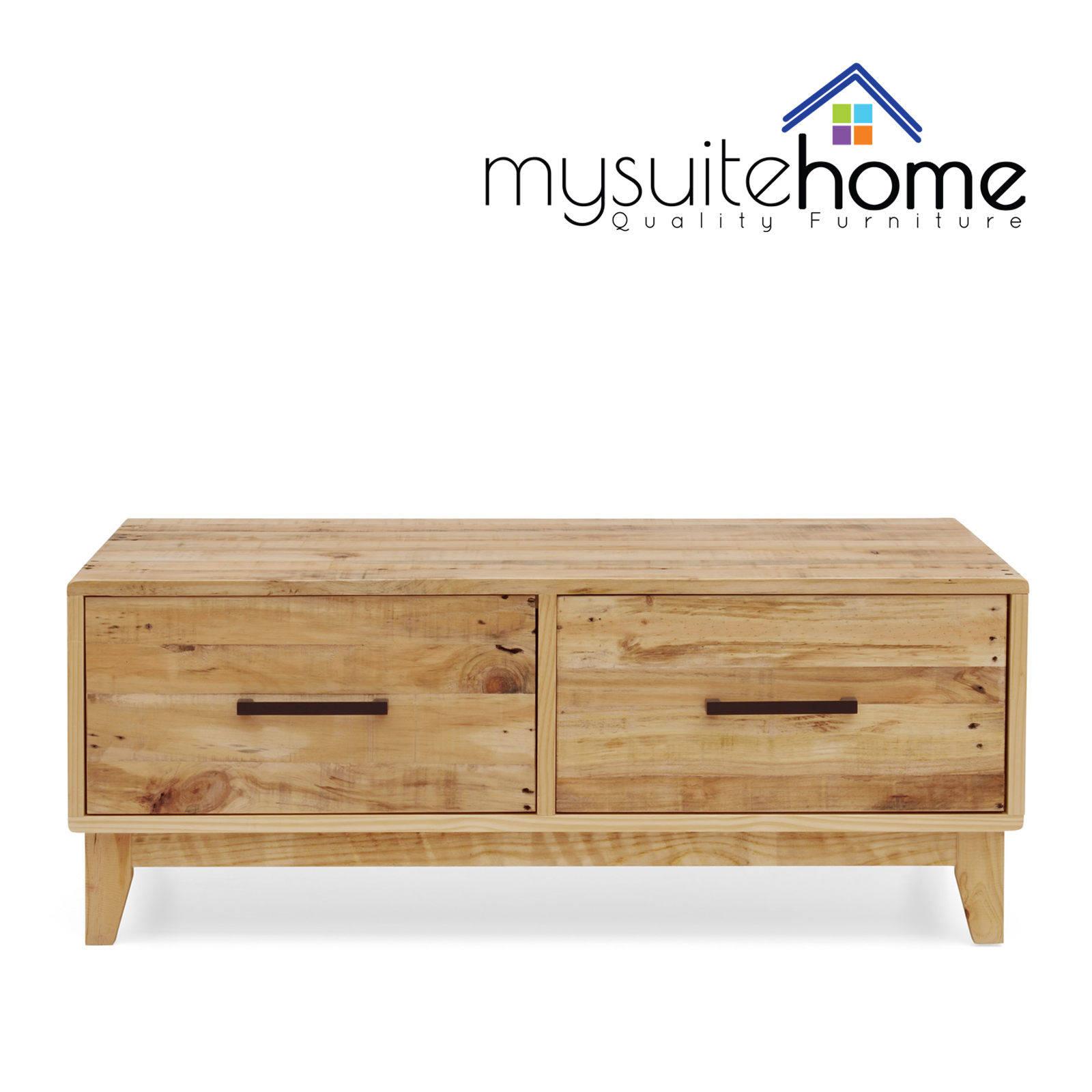 Portland Brand New Recycled Solid Pine Timber Coffee Table Storage Cabinet Unit Aud