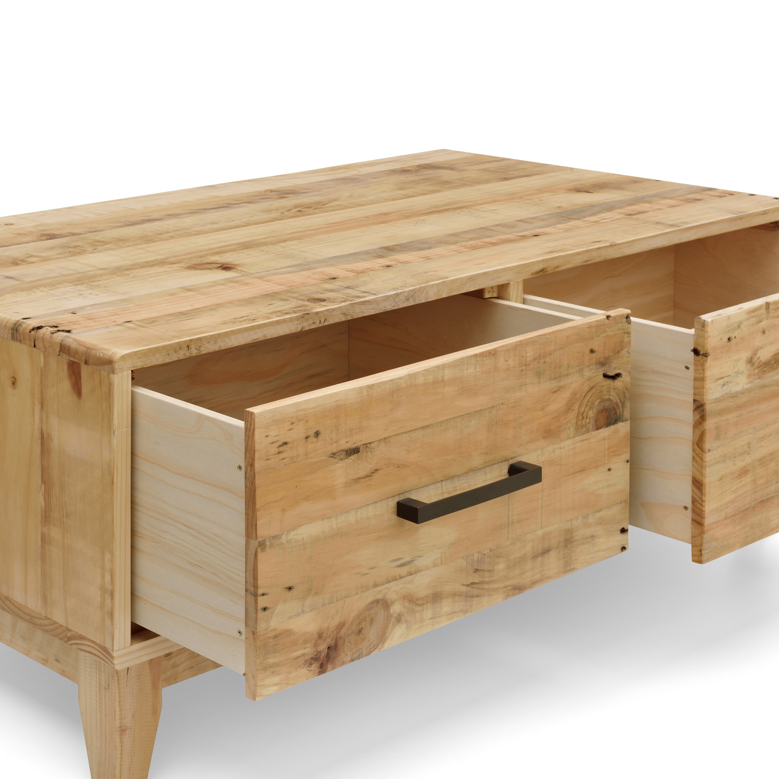 Portland brand new recycled solid pine timber coffee table Reclaimed wood furniture portland