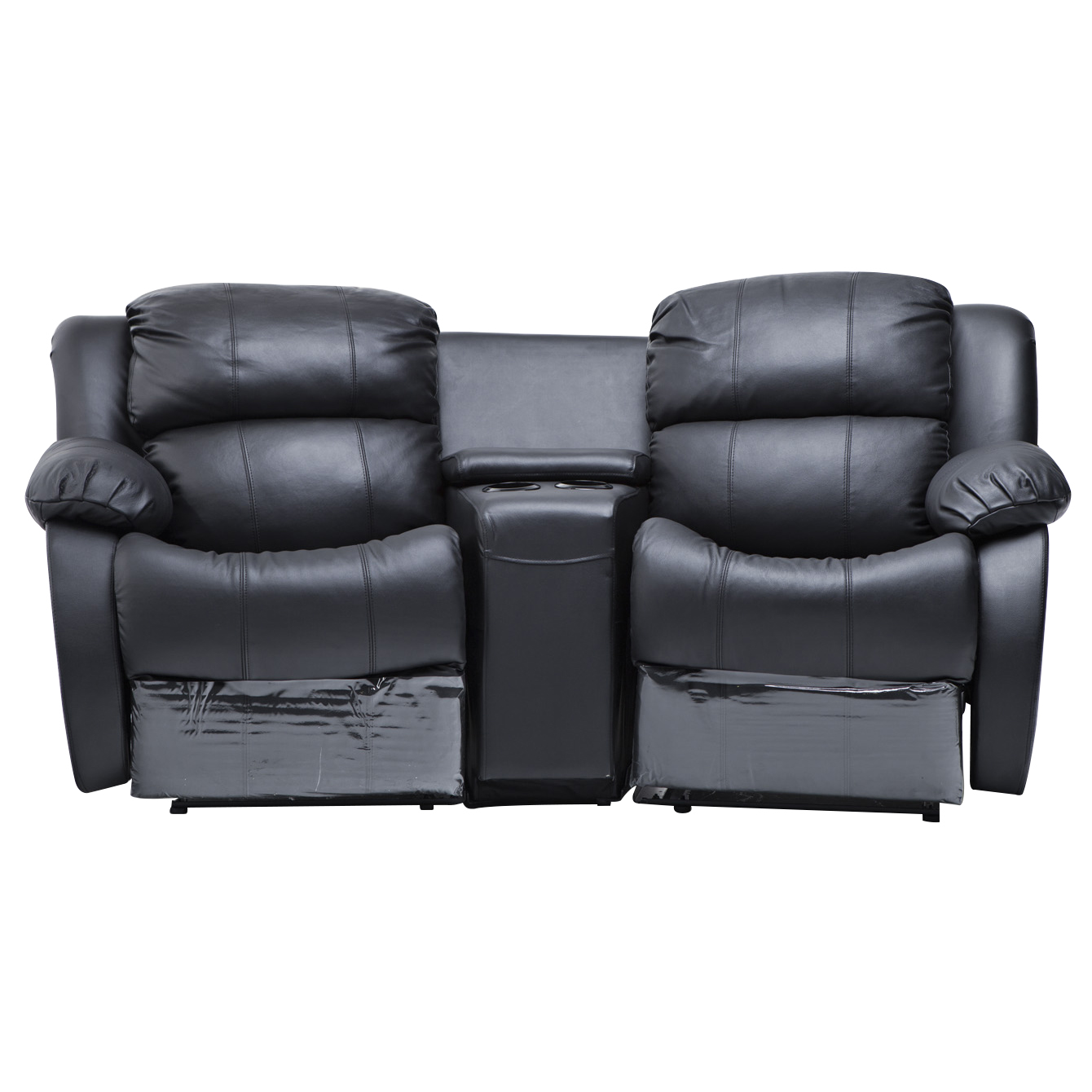 Best Leather Reclining Sofa Brands: Nikki Leather 2 Seater Home Theatre Recliner Sofa Lounge