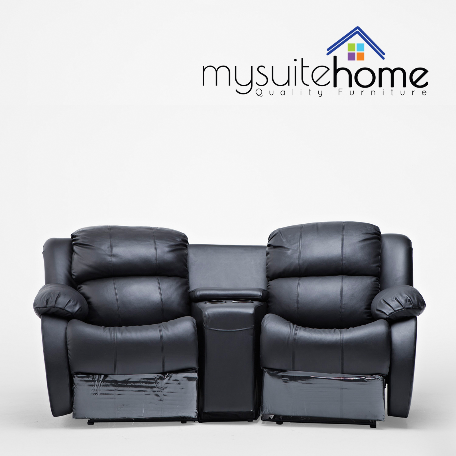 Theatre Room Lounge Suites: Nikki Leather 2 Seater Home Theatre Recliner Sofa Lounge