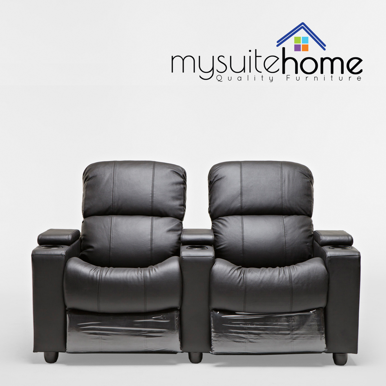 Best Leather Reclining Sofa Brands: Sophie Leather 2 Seater Home Theatre Recliner Sofa Lounge