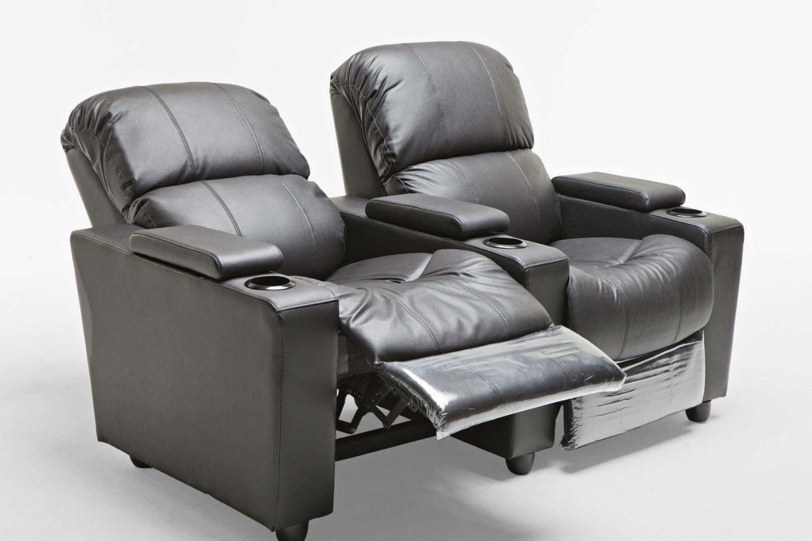 Image Gallery & Sophie Leather 2 Seater Home Theatre Recliner Sofa Lounge with Cup ... islam-shia.org