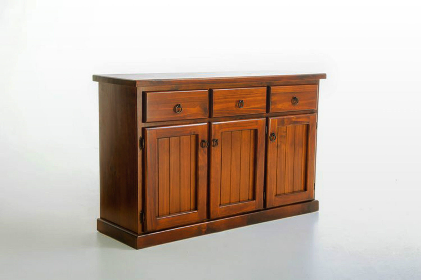 Riverside brand new solid timber pine buffet walnut color for Sideboard pinie
