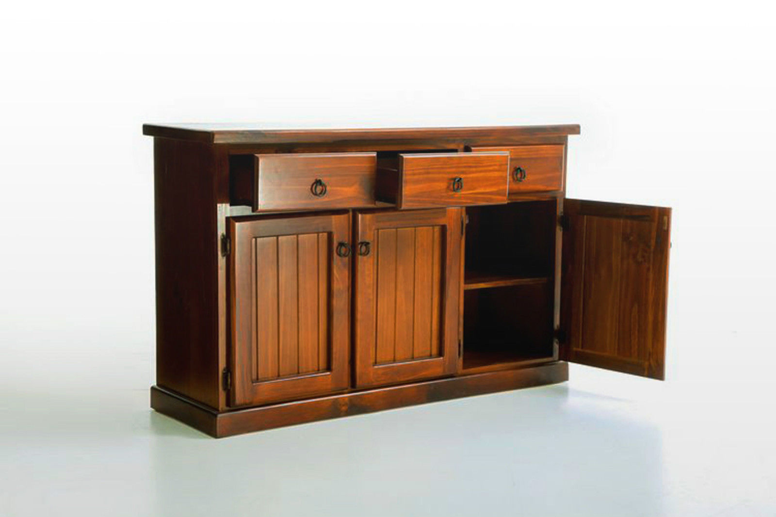 Riverside Brand New Solid Timber Pine Buffet Walnut Color Sideboard Storage C -> Tv Sideboard Pinie