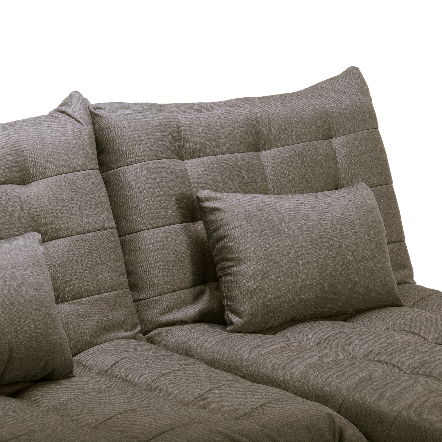 York brand new grey light blue fabric click clack modular for Blue sofa with chaise