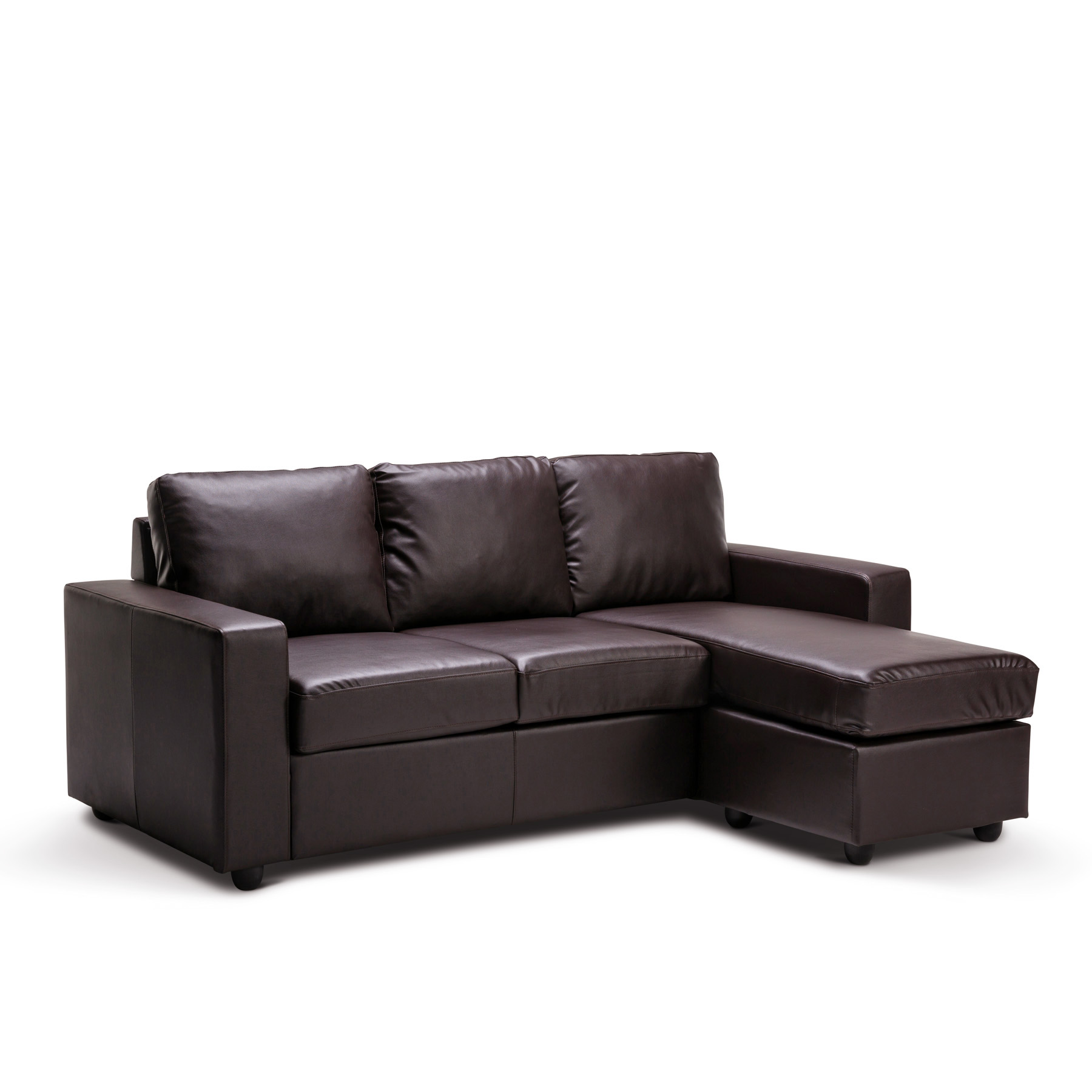 Diamond Modern White Leather U Shaped Sectional Sofa W: Olivia New 3 Seater L Shape Lounge Black / Brown Modular