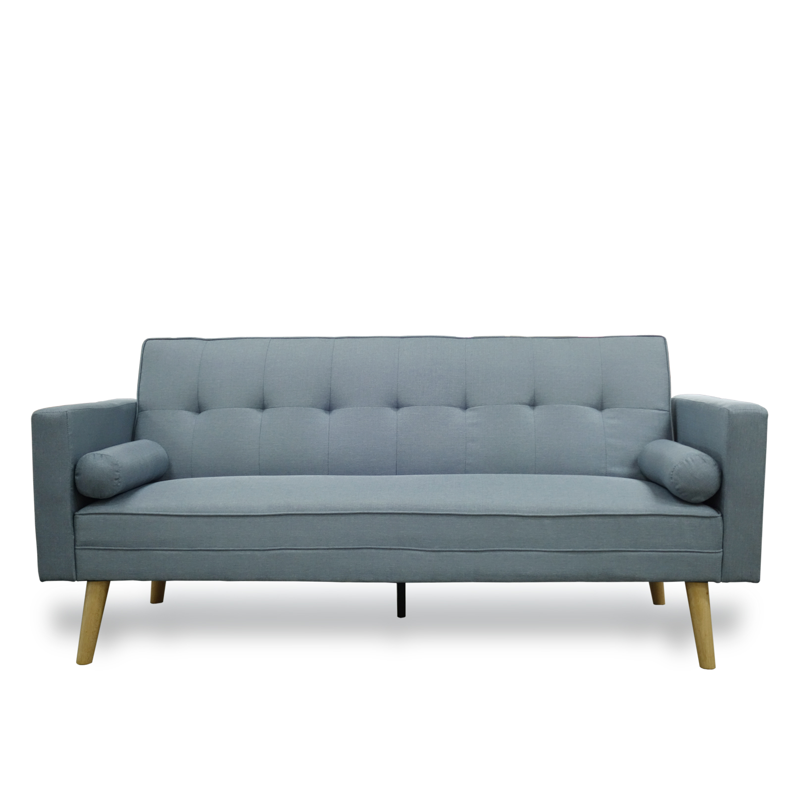 Amy Brand New Blue Or Grey Fabric Click Clack Sofa Bed