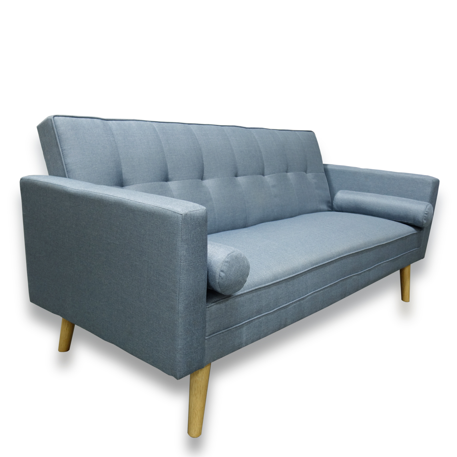 Amy Contemporary Scandinavian Fabric Clack 3 Seater Sofa Bed