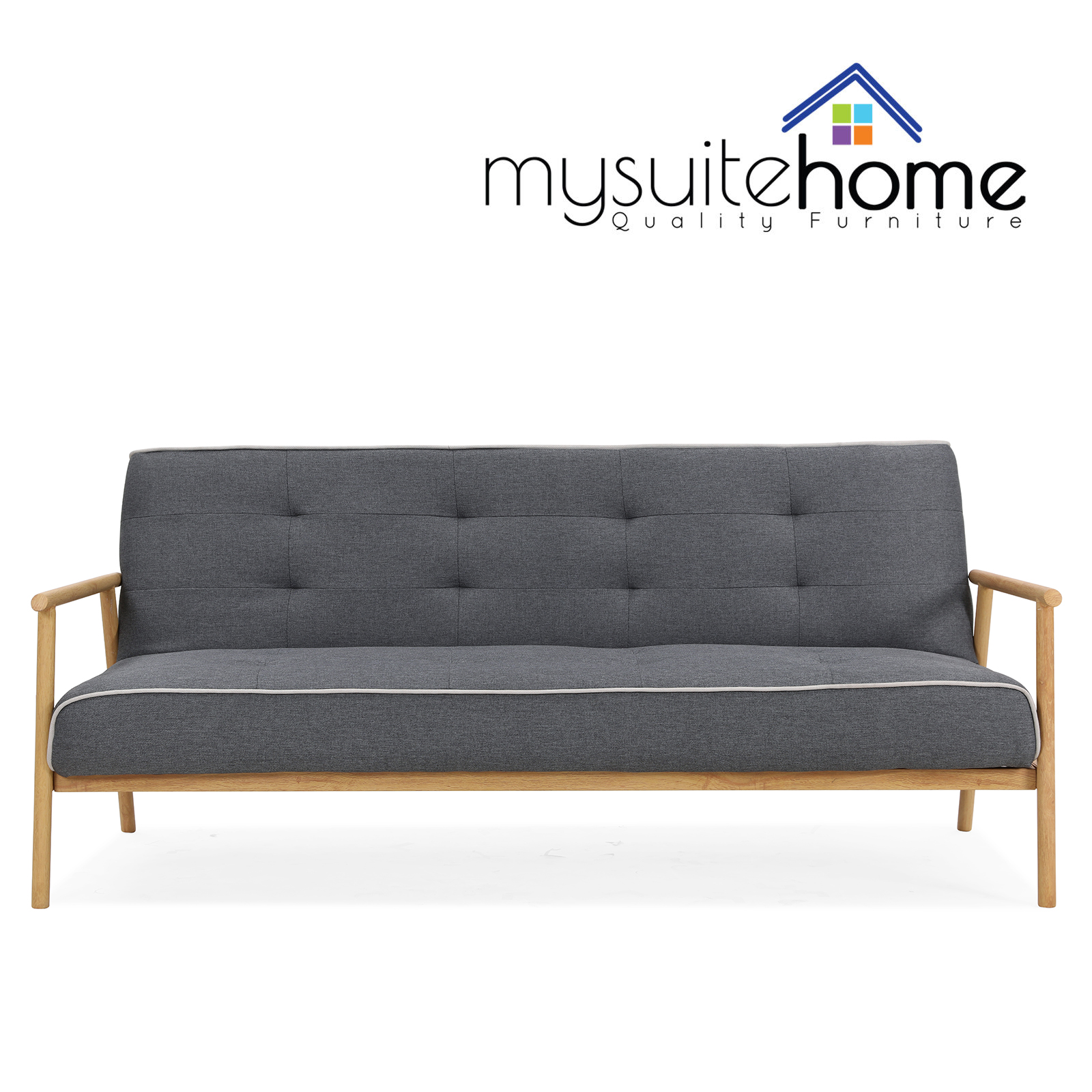 Charlotte Grey / Brown Click Clack Sofa Bed