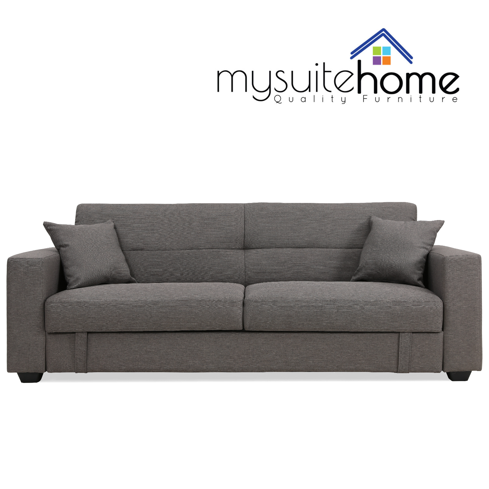 Erica Click Clack Contemporary Fabric 3 Seater Sofa Bed Lounge with ...