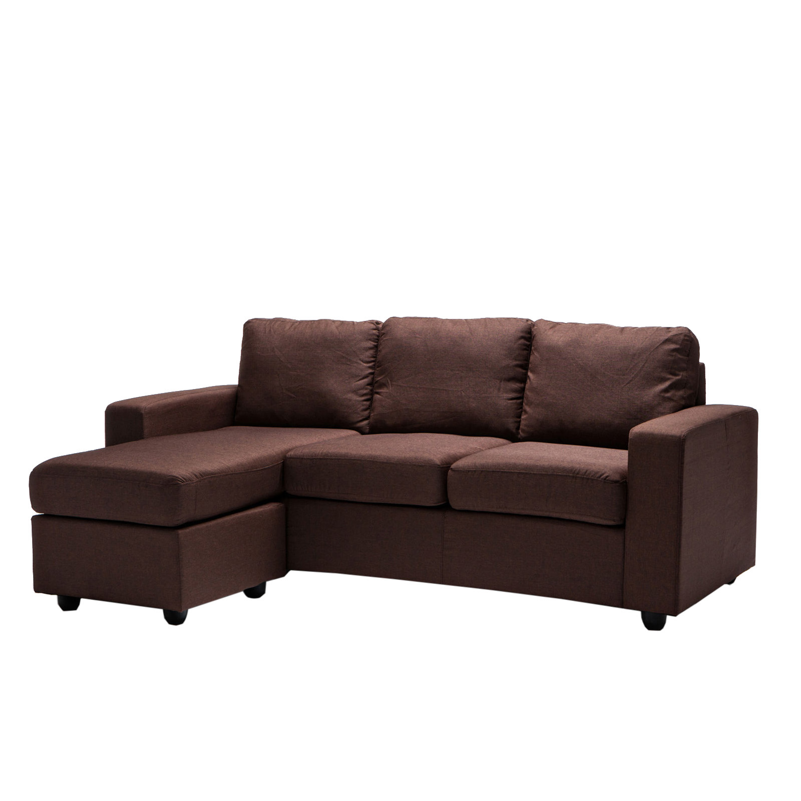 Ella 3 Seater L Shape Corner Lounge Modular Fabric Sofa Couch Chaise Ebay