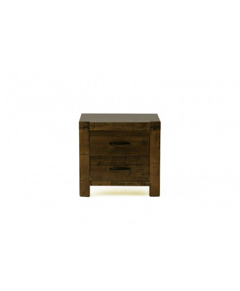 Juliette Brand New Tasmania Oak Bedside Table Night Stand Two Storage Drawer