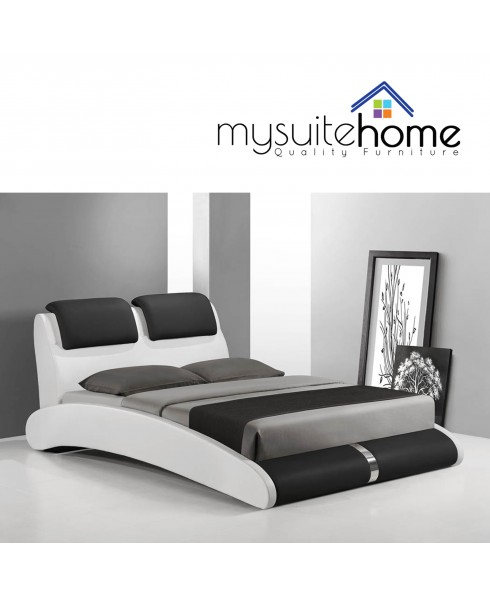 Marco Queen Bed - Black & White