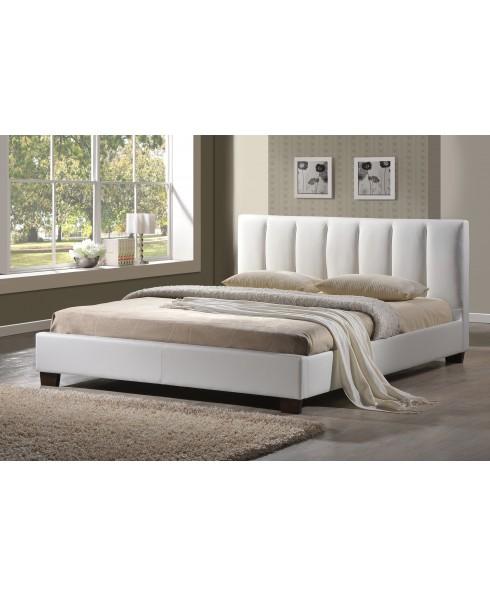 Paris White King Bed