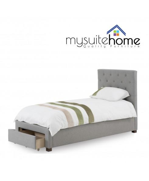 Poppy Beige Single Storage Drawer Bed