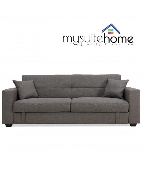 Erica Grey Fabric Sofa Bed & Storage