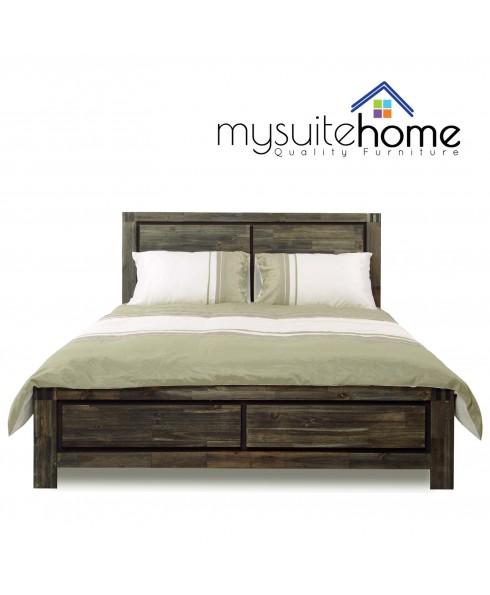 Aston Solid Acacia Queen Bed