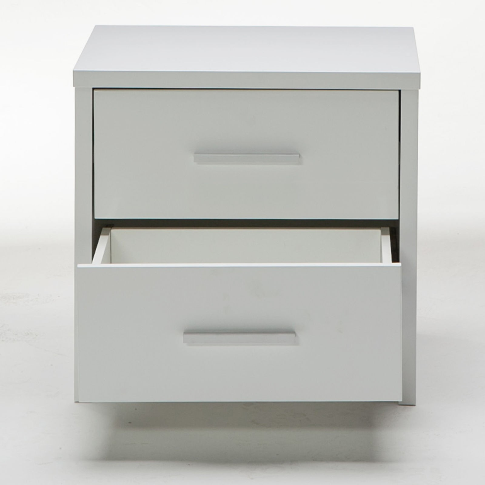 Venus Brand New White High Gloss Bedside Table Night Stand Storage Drawers