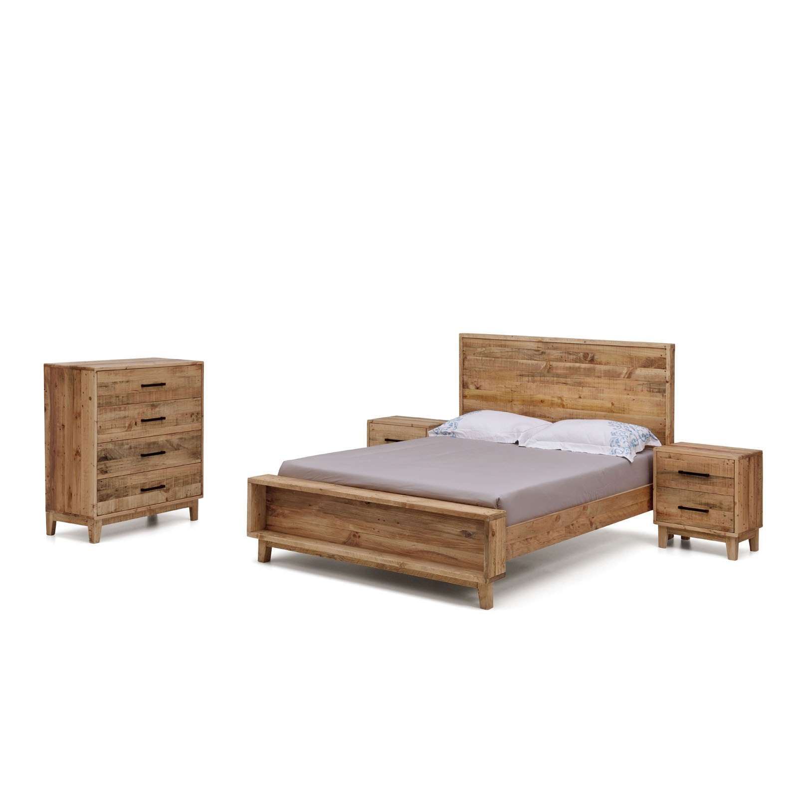 Portland Bedroom Furniture Portland Brand New Recycled Solid Pine Rustic Timber Queen Size