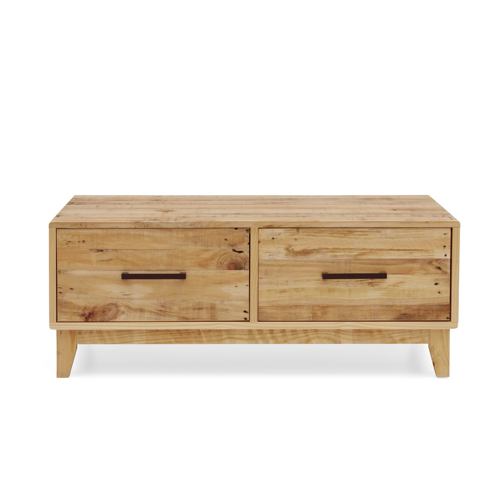 Storage Coffee Table Pine: Portland Solid Recycled Pine Timber Coffee Table