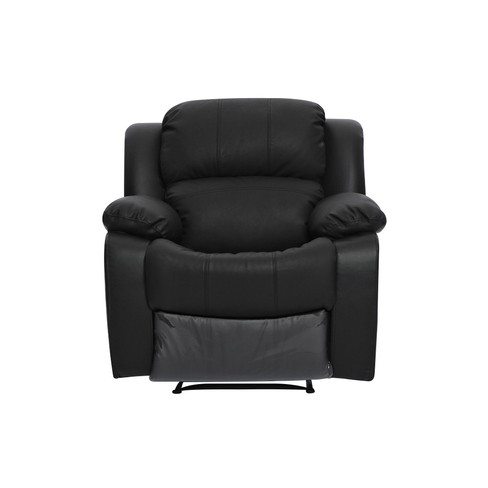 kacey black leather single seater chair recliner couch lounge sofa. Black Bedroom Furniture Sets. Home Design Ideas