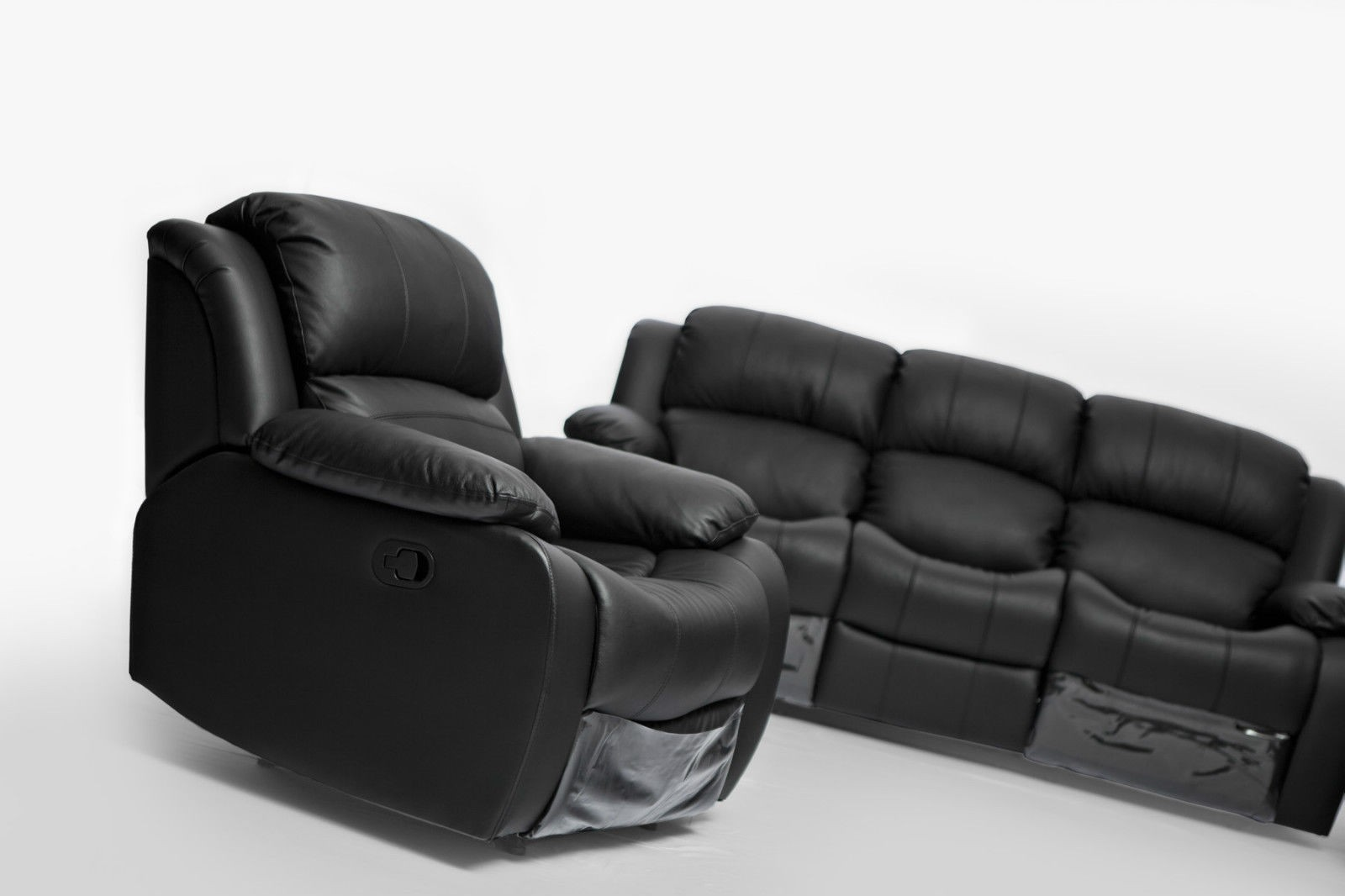 Kacey Brand New Black Leather Single Seater Chair Recliner Couch Lounge Sofa
