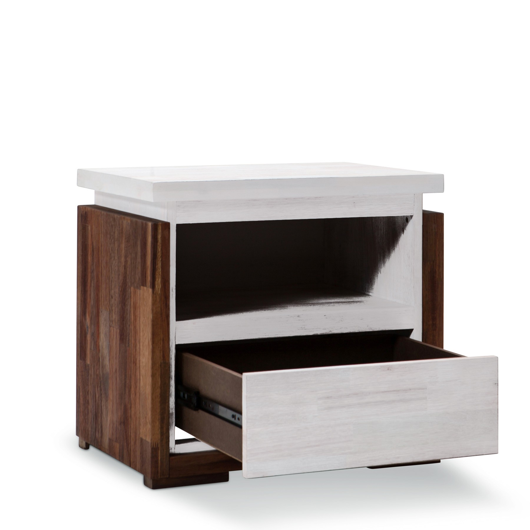 Catalina Brand New Solid Rubber Wood Bedside Table With