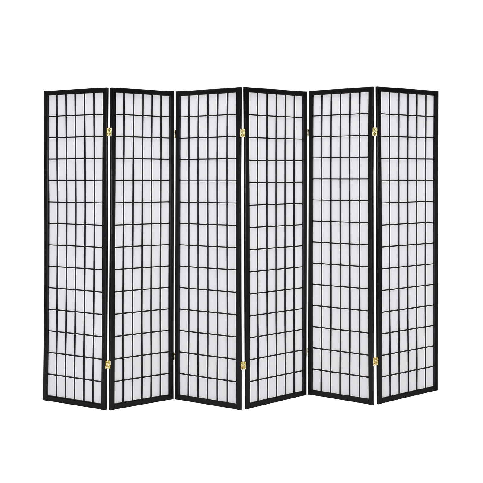 Stupendous Solid Timber Wooden 6 Panel Fold Screen Room Divider Black Download Free Architecture Designs Embacsunscenecom