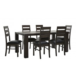 Platform Brand New Solid Acacia Timber 1.8M Set Brown Dining Table with 6 Chairs