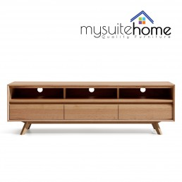 Alison White Oak 1.8m TV Unit