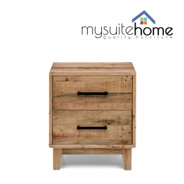 Portland Solid Recycled Pine Timber Bedside Table