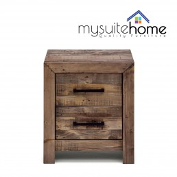 Boston Recycled Solid Pine Timber Bedside Table Night Stand