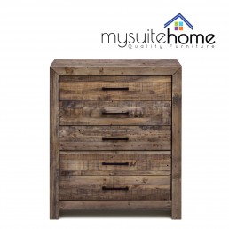 Boston Recycled Solid Pine Timber Tallboy
