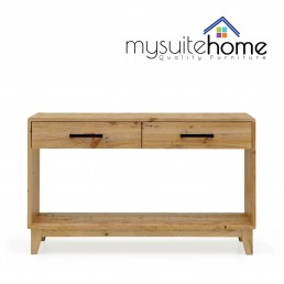Portland Solid Recycled Pine Timber Hall Table Console