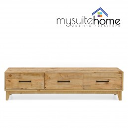 Portland Solid Recycled Pine Timber TV Entertainment Unit