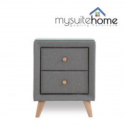 SORRENTO GREY BEDSIDE TABLE