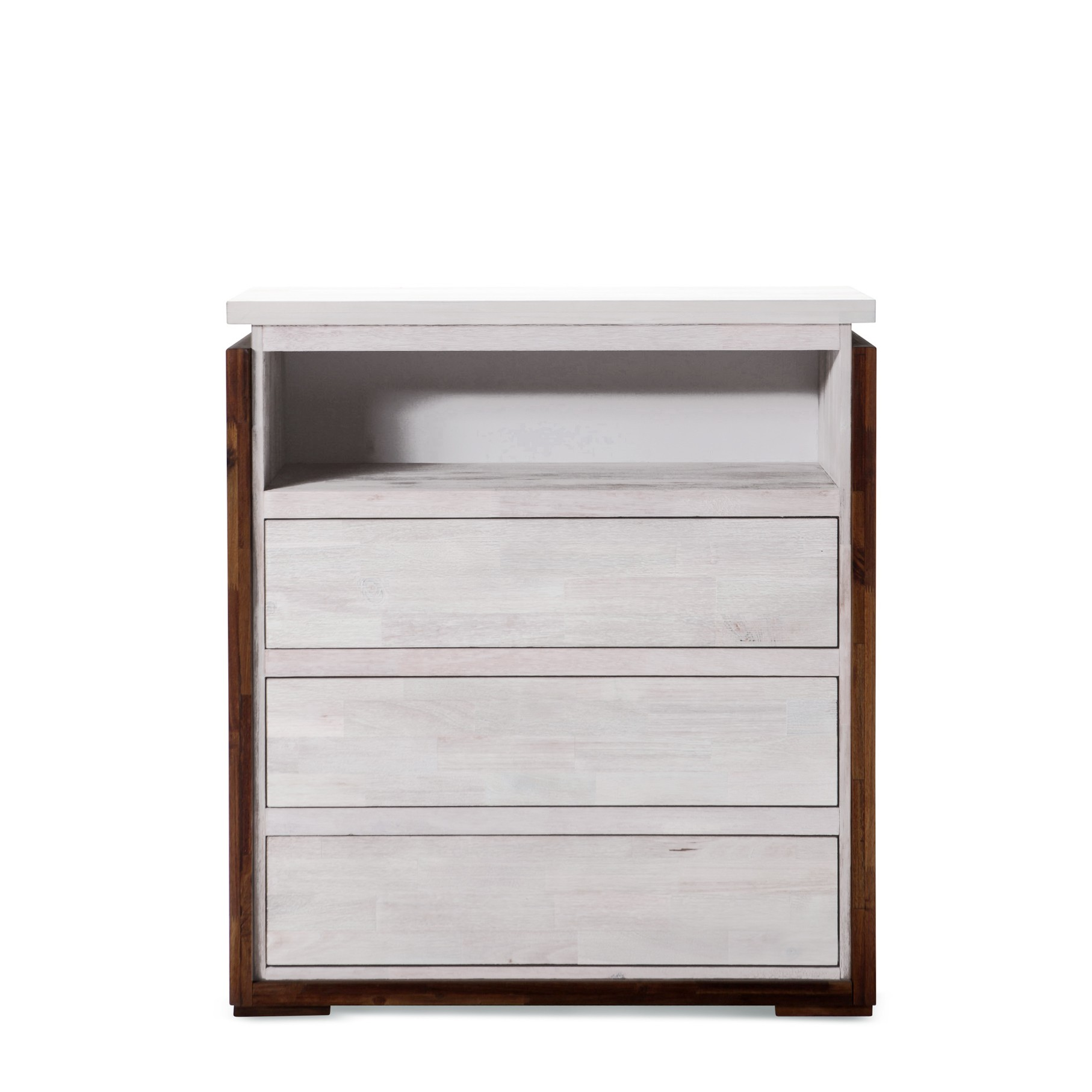Catalina brand new solid rubber wood 4 storage drawers with shelf tallboy chest